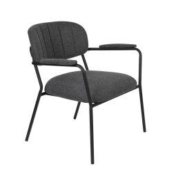 Fotelja Jolien Black/Dark Grey