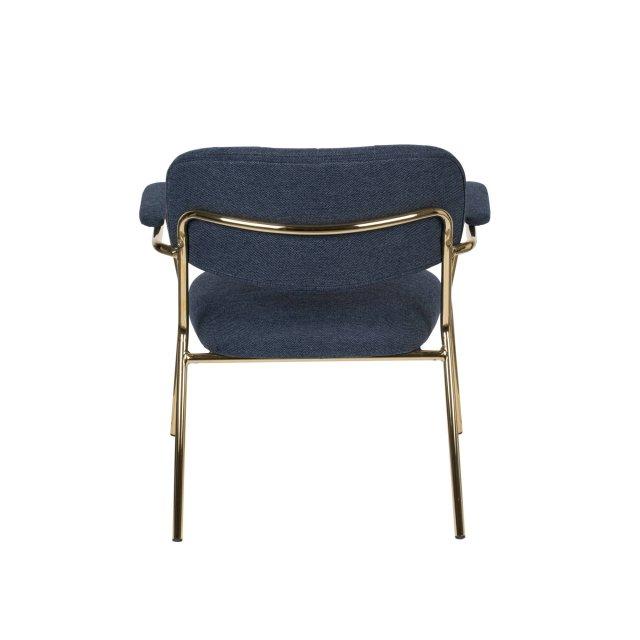 Fotelja Jolien Gold/Dark Blue