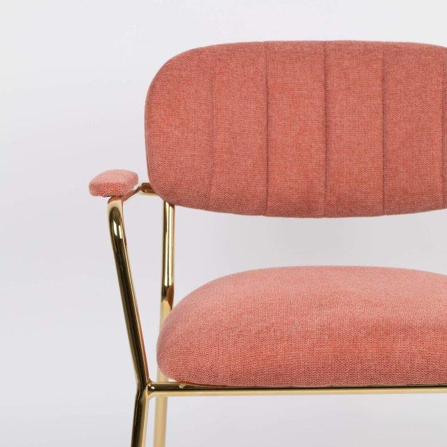 Fotelja Jolien Gold/Pink