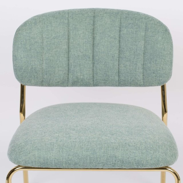 Fotelja Jolien Gold/Light Green