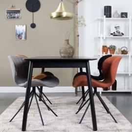 Produljivi stol Glimps 120/162x80 cm Black